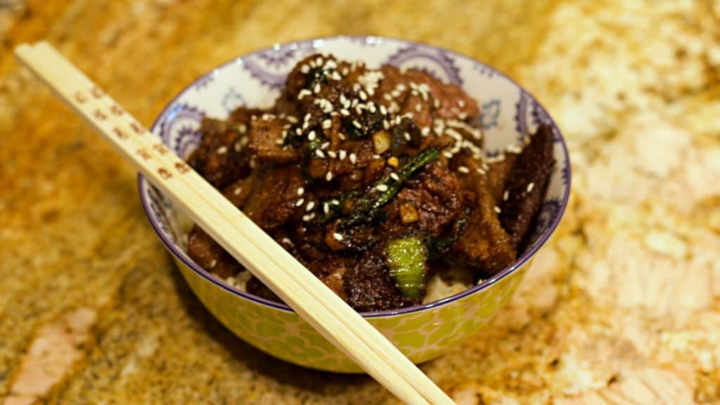 Keto Mongolian Beef Recipe Wide