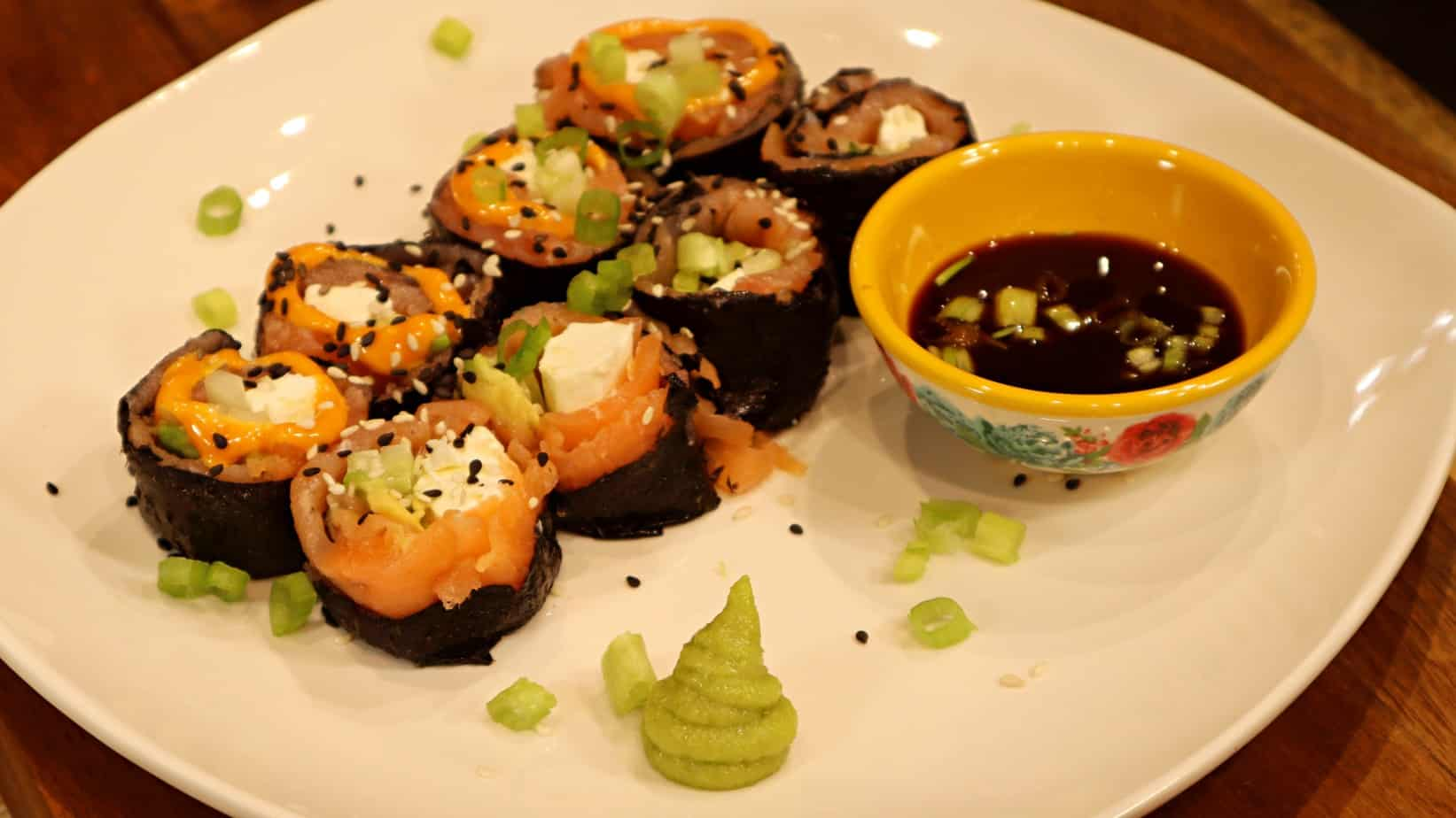 Keto Sushi Salmon Roll Recipe