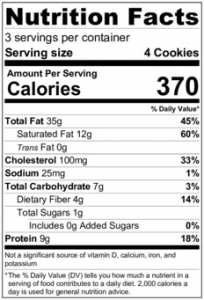 Keto Snickerdoodle Cookie Nutrition Facts