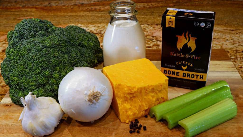 Keto Broccoli Cheddar Soup Recipe Ingredients