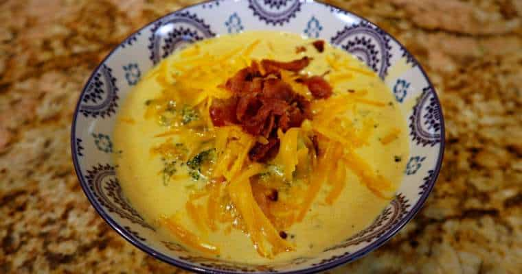 Keto Broccoli Cheddar Soup Recipe