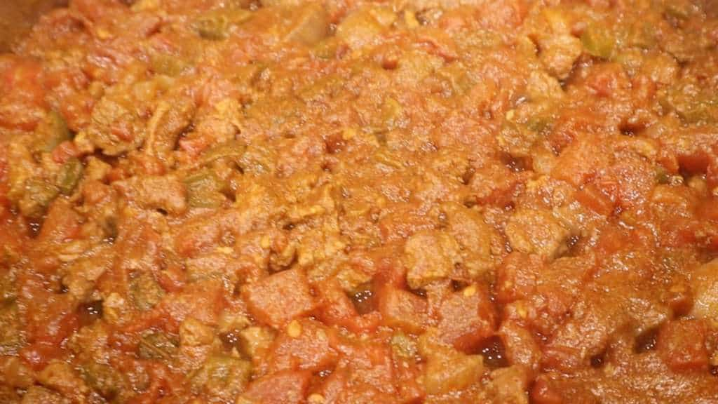 Keto Instant Pot Chili Closeup