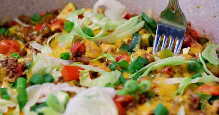 Keto Cheesy Taco Skillet Recipe