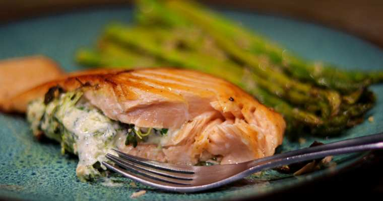 Keto Stuffed Salmon Recipe
