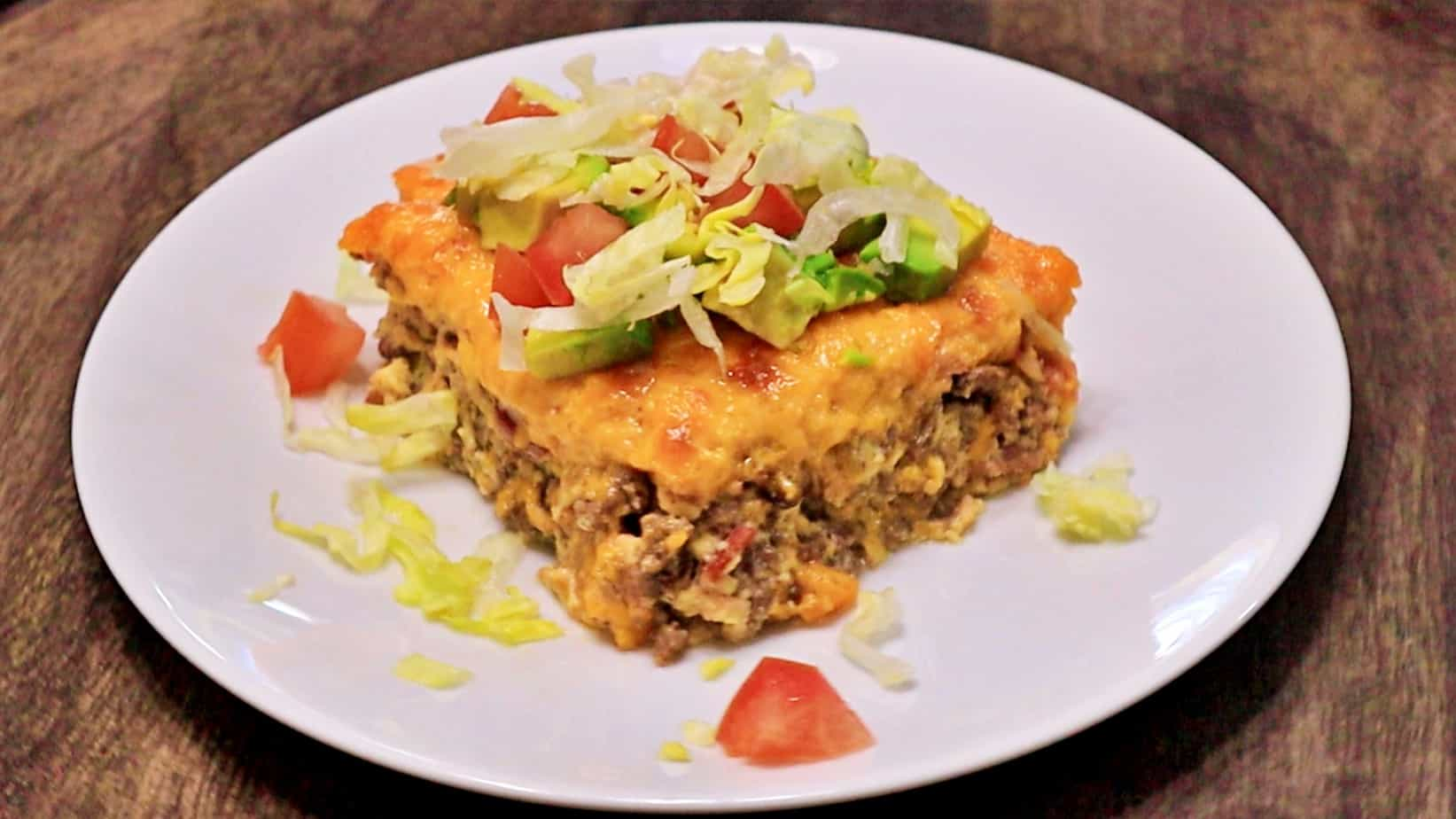 Keto Bacon Cheeseburger Casserole Recipe