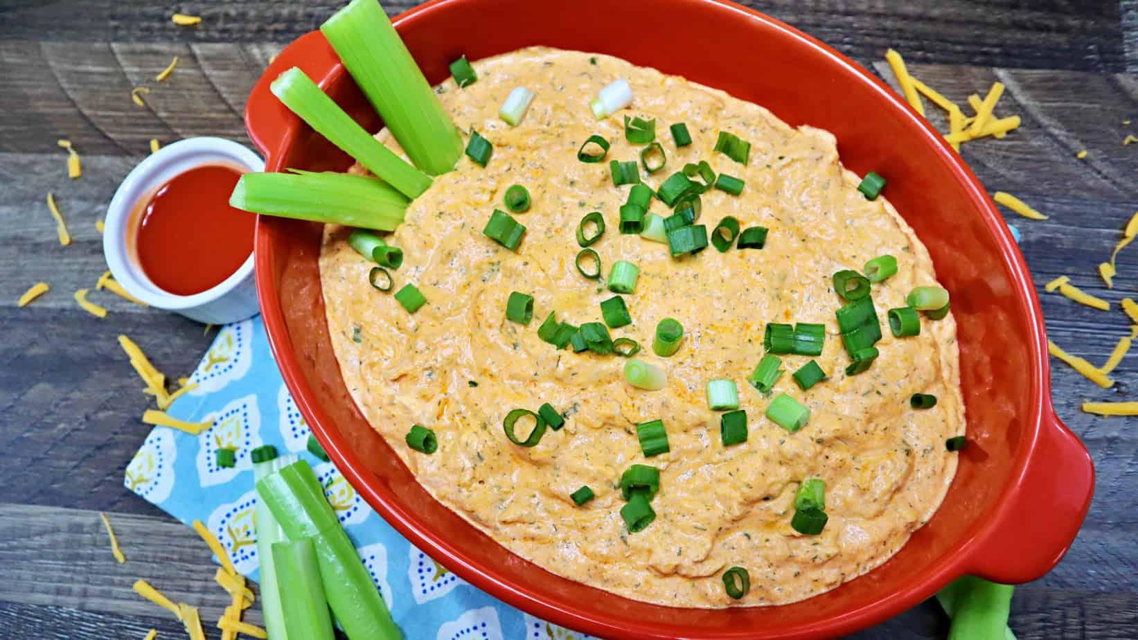 Keto Cheesy Buffalo Chicken Dip Recipe