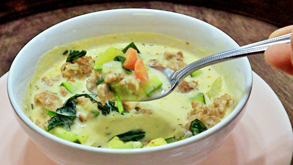 Keto Creamy Sausage and Vegetable Soup Recipe