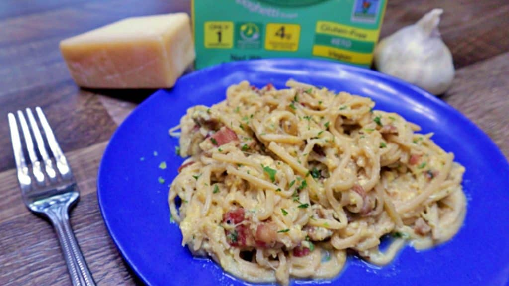Keto Pasta Carbonara Dinner