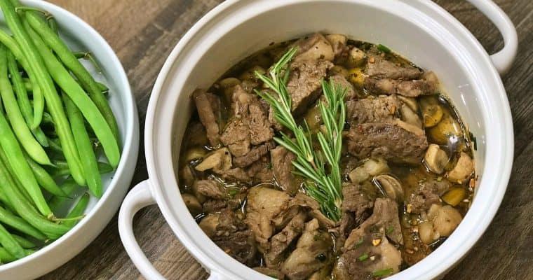 Keto Brown Butter Steaks and Mushroom Gravy