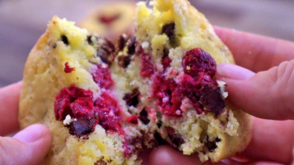 Keto Chocolate Raspberry Muffins