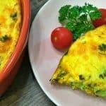 Keto Broccoli Cheddar Quiche Top