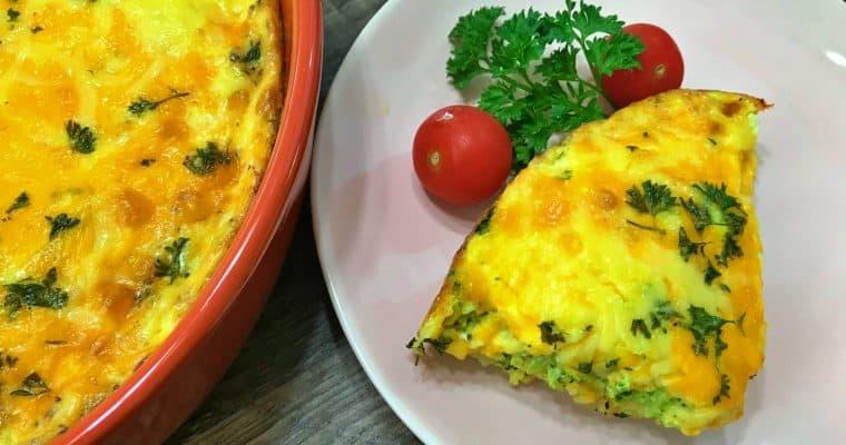 Keto Broccoli Cheddar Quiche Recipe