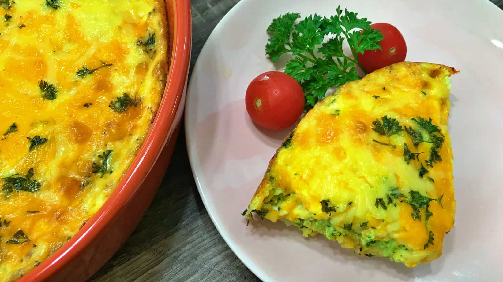 Keto Broccoli Cheddar Quiche Recipe