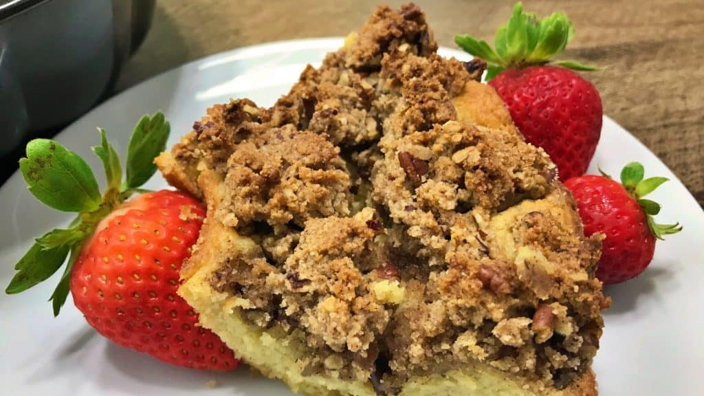 Keto Coffee Cake Recipe Closeup
