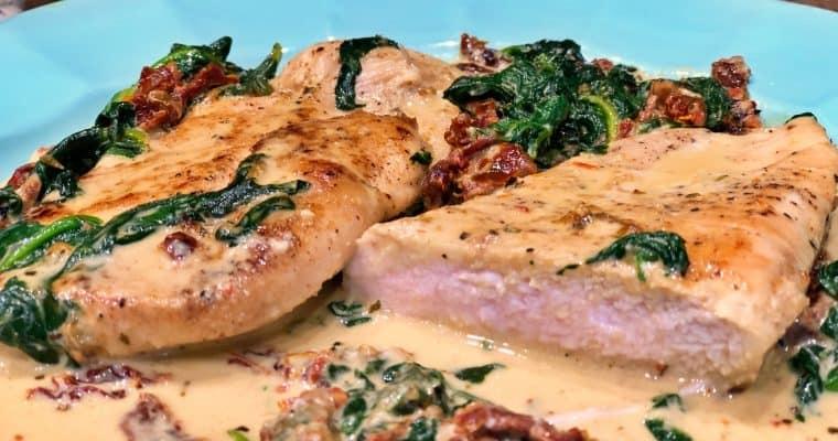 Keto Creamy Tuscan Chicken Recipe