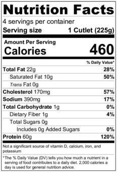 Chicken Piccata Nutrition Facts