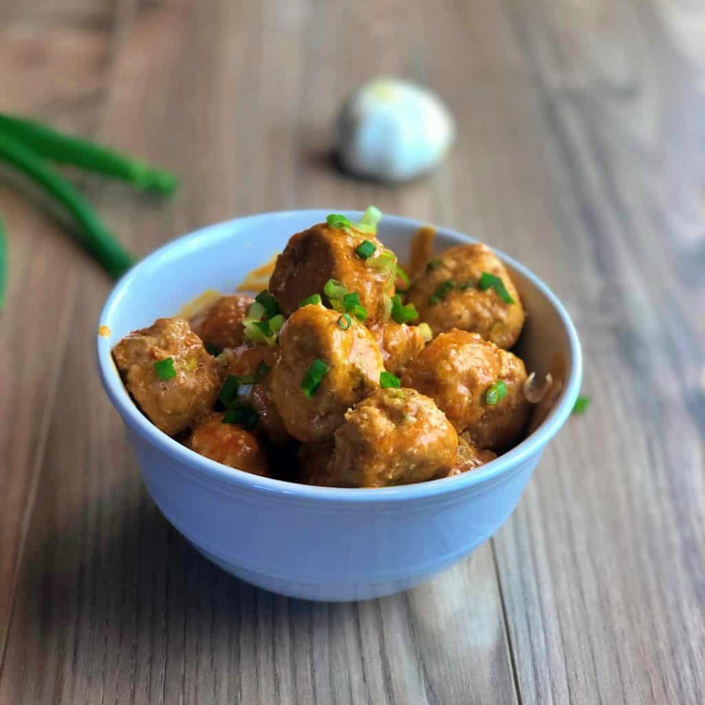 Keto Buffalo Chicken Meatballs Recipe